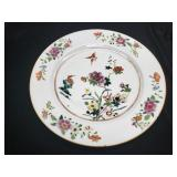 antique Chinese Famille Rose Plate Hummingbirds Fl