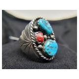 Native American Sterling Ring Haley Turquoise, Cor