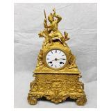 ca 1840 France bronze fire gilded Mantel Clock