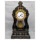Clock French empire revival portico clock, 19th Fi