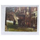 France oil Painting on oak panel 19th Century