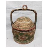 Antique Chinese Basket with Lid