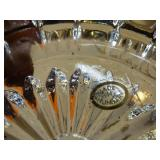 Round sunburst glass ashtray