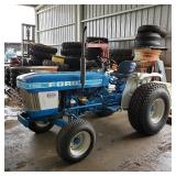 Ford 1710 tractor w/Woods RM59 & scrape blade