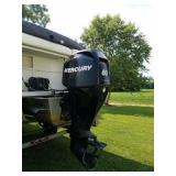 w/60hp Mercury motor, 4 stroke fuel inj