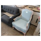 LIGHT BLUE MID TOWN ARMED CHAIR W/