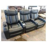 LARSON 3 SECTION POWER THEATER RECLINER SET
