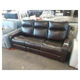 MANHATTAN BROWN LEATHER DOUBLE RECLINING