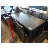 "60"" GREY 7 PC DINING ROOM TABLE SET W/ GREY"