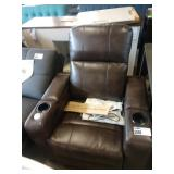 BROWN RYDER POWER LEATHER RECLINER