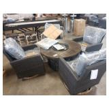 FREEMONT 5 PC FIRE PIT CHAT SET IN SMOKE       DA