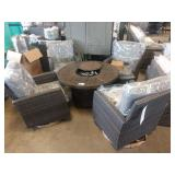 AGIO FREEMONT COLLECTION 5 PC FIRE PIT CHAT SET