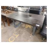 """64"""" X 38"""" COOPER WEDGE DINING TABLE, DISTRESSED"""