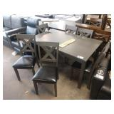"""60"""" X 36"""" 7 PC WEATHERED GREY DINING TABLE W/ (6)"""