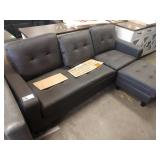 TAYLOR LEATHER REVERSIBLE SECTIONAL SOFA IN