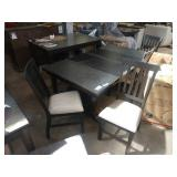 """76""""X42"""" HARVEST TABLE W/ (2) 18"""" LEAVES AND (4)"""