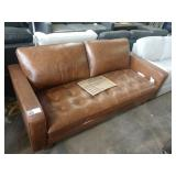"""78"""" HOLLOWAY LEATHER SOFA, CAMEL COLOR W/"""