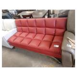 RED VIENNA BONDED LEATHER EURO LOUNGER