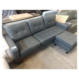 TAYLOR LEATHER REVERSIBLE SECTIONAL AND OTTOMAN