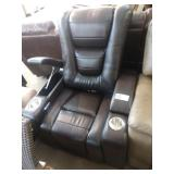 MYLES BLACK LEATHER THEATER RECLINER