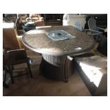 """60"""" COUNTER HEIGHT ROUND FIRE PIT TABLE"""