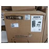 4X (4) LIFETIME GREY PADDED SEAT FOLDING CHAIRS