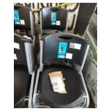 14X (14) BLACK RESIN STACKING CHAIRS W/ GREY