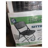 16X (16) BLACK MITY LITE OUTDOOR FOLDING CHAIRS