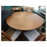 """1 LOT, MELINA 48"""" ROND DINING TABLE AND (4)"""