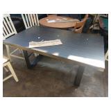"64"" X 38"" DINING ROOM TABLE W/ METAL LEGS"