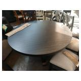 """60"""" ROUND DINING TABLE FANCY W/ (6) LYRE BACK"""