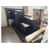 CHERRY STAINED QUEEN SIZED BED ROOM SUITE , W/ 2