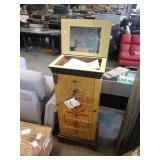 POWELL ANTIQUE PARCHMENT JEWELRY ARMOIRE