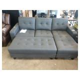 ABBYSON REVERSIBLE SECTIONAL AND OTTOMAN ***