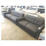 1 LOT, KD HEIRLOOM CHARCOAL LOVESEAT AND SOFA