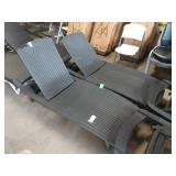 2X (2) FAUX RATTAN CHAISE LOUNGE CHAIRS  **DAMAGE