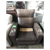 MASON BROWN LEATHER POWER THEATER RECLINER