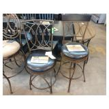 2X (2) ASSORTED POWELL METAL BACK BAR CHAIRS W/