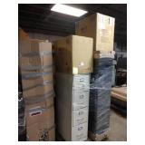 1 LOT, 6 ASSORTED METAL FILES AND CABINETS,