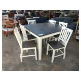 1 LOT, ANTIQUE WHITE COUNTER HEIGHT TABLE ***
