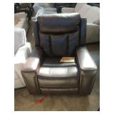 STANDAGE BROWN LEATHER GLIDER RECLINER