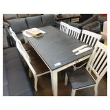 """1 LOT, 64"""" GREY TOP DINING ROOM TABLE W/ END"""