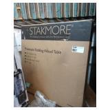 "STAKMORE WOOD PREMIUM FOLDING WOOD TABLE 32"""