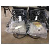 2X (2) ALUM FRAMED SWIVEL AND ROCK PATIO CHAIRS
