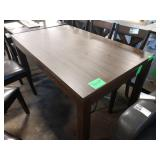 WOOD GRAINED DINING TABLE  DAMAGE***END FRAME