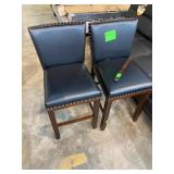 1 LOT, STEVE SILVER (2) BLACK LEATHER COUNTER