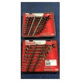Lot (2) Craftsman 9 Pc. Combination Wrench Sets,