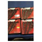 Lot (4) Craftsman 9 Pc. Combination Wrench Sets,