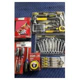 Lot 6 Tools/Sets: Steel Grip 9 Pc. Homeowner