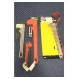 Lot (4) Asst. Wrenches: 3 Pipe & 1 Strap Wrench